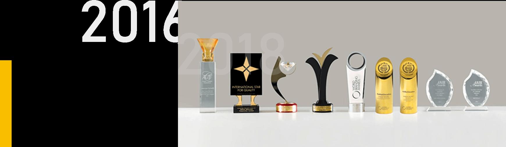 Brand of The Year 2016-2018 World Branding Awards| 2016-2018连续三年被世界品牌| 论坛 WBF评为年度最佳品牌奖